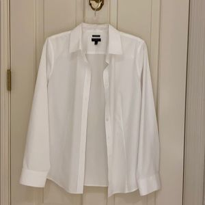 Talbots white long sleeve button shirt.  Sz 10